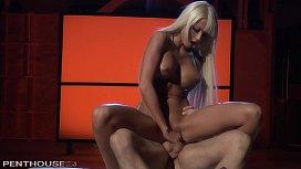 Hard-body Blonde Rikki Six Hardcore Sauna Sex Fantasy