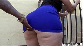 Fat ass brunette lady...