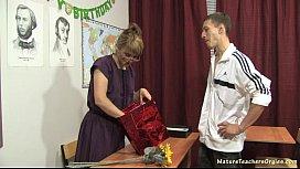 Russian mature teacher 11...