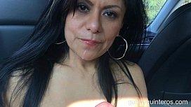 MexiMILF Gabby Quinteros is a BackSeat BJ Slut! pornnhub