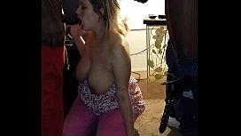 Sexy wife sucks 2...