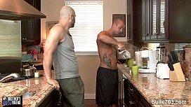 Bald gays suck their...