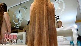 Nude busty blonde longhair...
