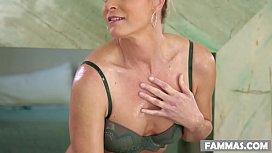 India Summer massaging her...