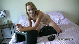 Cute blonde Melanie Masters...