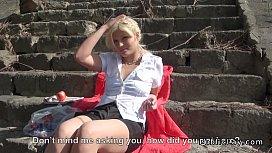 Blonde Hungarian amateur public...