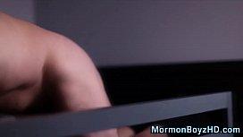 Gloryhole mormon jizzing...