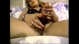 Blond buxom hermaphrodite jerks...