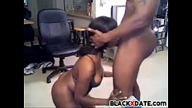 Sexy black MILF gives head and gets facial