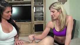 Threesome hand job...