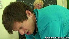 Perverted old teacher takes...