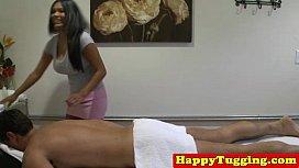 Busty amateur asian masseuse tugging impregnation porn