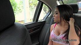 Busty Latina teen bangs...