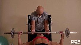 Fitness buddies get down...