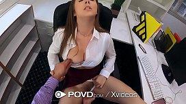 POVD Busty secretary Lena...