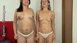 Adult lesbians breastfeeding...