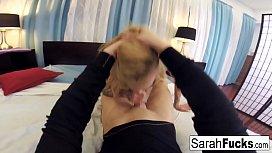 Sarah gets a hot...