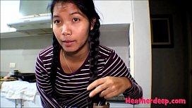 HD 18 week pregnant thai teen heather deep nurse deepthroat throatpie creamthoat swallow cum