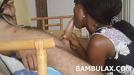 Ebony teen amateur blowjob...