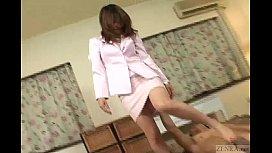 Subtitled uncensored Japanese handjob...