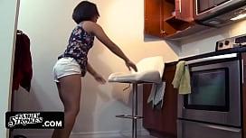 Latina stepteen blows...