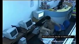 Cafe Sex Caught in Security Cam