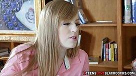 Blonde teen gets fucked...