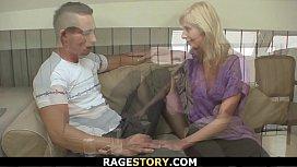 Guy punishes blonde GF