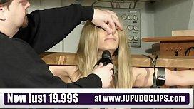 Slave Training Punishment Blonde...