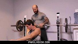 FamilyDick - Older tattooed muscle...