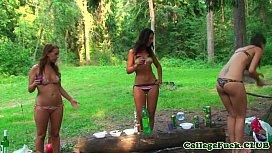 Euro bikini teens cocksucking...