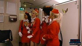 Black flight attendant fucks...