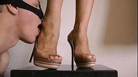 Feet and shoe worship close up