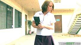 cute brunette Haley Sweet punished f ...
