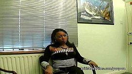 Ebony amateur filmed at...
