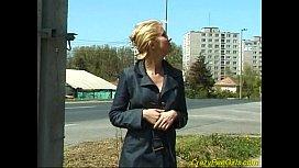Nasty blonde pissing outdoor yespornplease