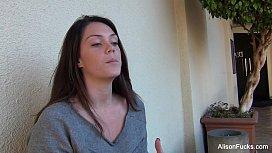 Alison Tyler gets breast...