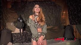 Extreme XXX double penetration at army base makes Roxy Lips scream &amp_ cream FS031