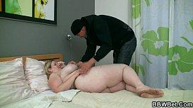 Horny burglar bangs fat...