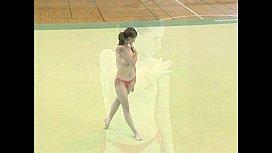 Claudia - Topless Gymnastics...