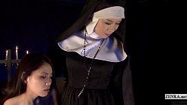 Subtitled HD Japanese schoolgirl spies lesbian nuns xxx vidios