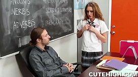 Dumb Student Seduces Teacher...