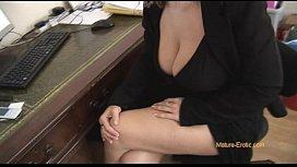 Busty mature blonde secretary...