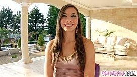 Givemepink brunette Carla Cruz...