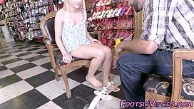 Teens feet jizzed in...