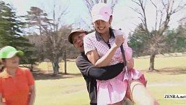Subtitled uncensored HD Japanese golf outdoors exposure petek dinces
