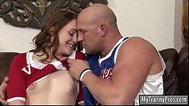 Cheerleader shemale gets her...