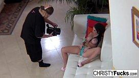 Christy Mack shows off...