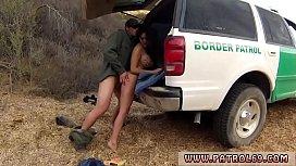 Ebony fucks before cops...