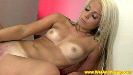 Wam fetish blonde sliding...